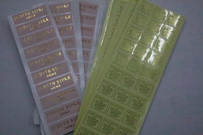 透明龙烫金标签